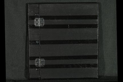 Black Stripes on Black Wood Memory Book