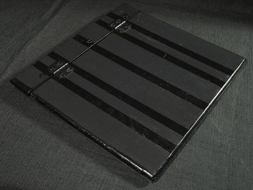 Black Stripes on Black Wood Memory Book / Scrapbook / Portfolio