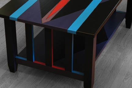Diamond Lanes Functional Art Coffee Table