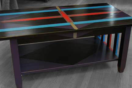 Diamond Lanes Modern Coffee Table