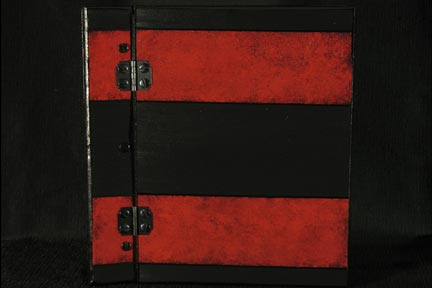 Red Stripes on Black Memory Book